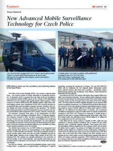 Read about us: Military Technology - New Advanced Mobile Surveillance Technology for Czech Police