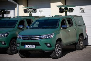 Toyota Hilux Vehicles with Our Surveillance Systems for Polish Border Guard