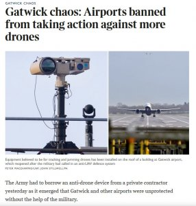 Our MST pan and tilt used at GATWICK airport during drone crisis