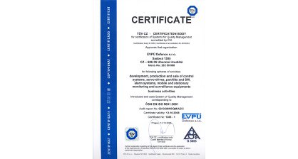 We obtained CSN ISO 9001 certificate